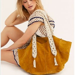 Free people so soft suede tote